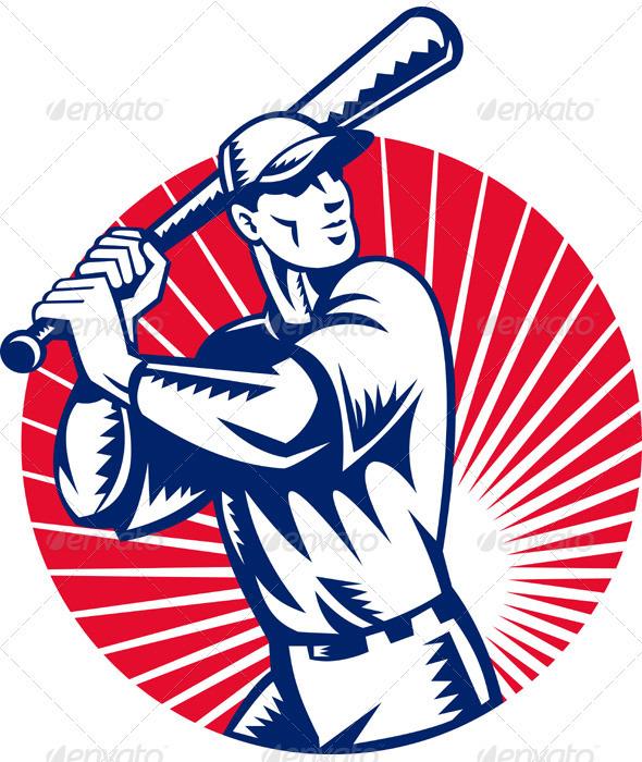 Baseball Player Holding Bat