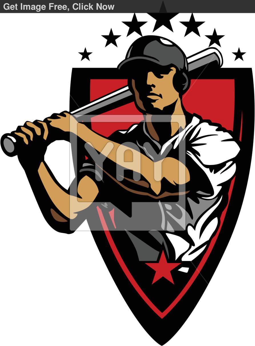 Baseball Player Vector