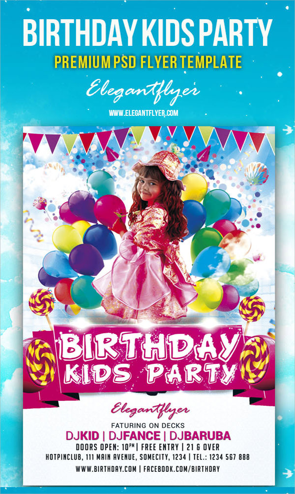 Birthday Party Flyer Template Free Militaryalicious