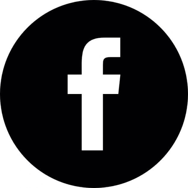 Black Round Facebook Icon