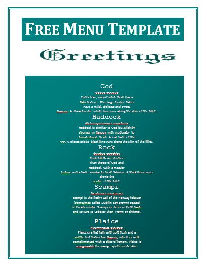 12 food menu templates free images free food menu design templates food menu templates free for Free download menu templates