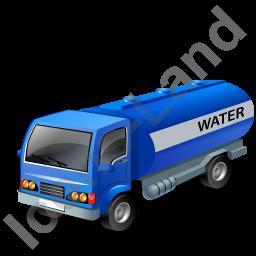 Blue Water Tank Truck