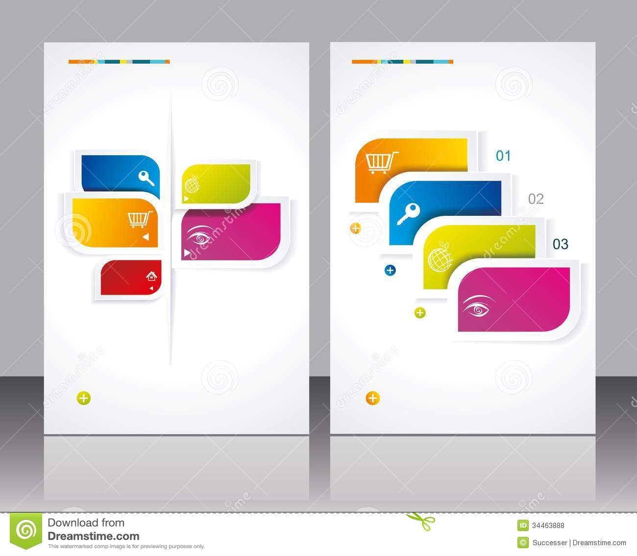 16 vector brochures templates images free vector for Free template brochure design