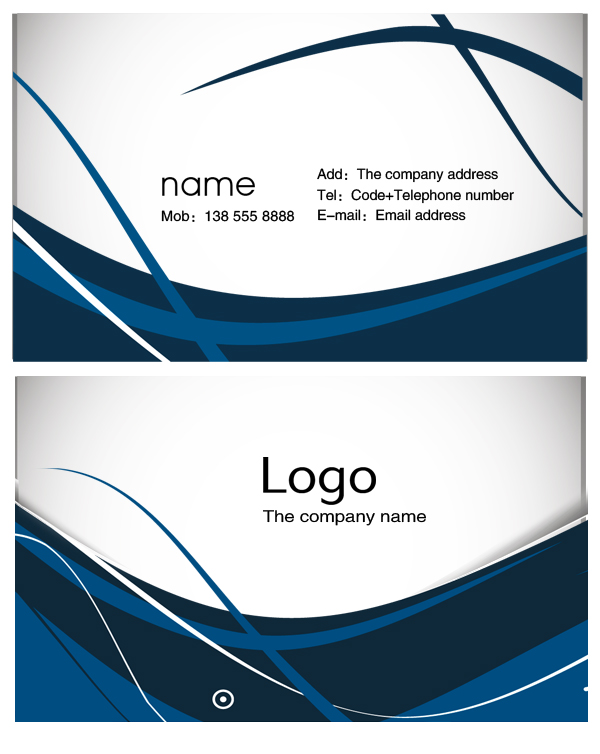 14 Business Card Design Template PSD Images