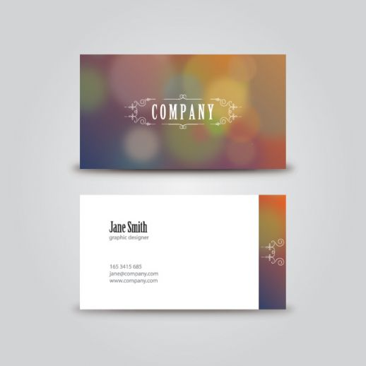 10 Classic Business Card Vector Free Images