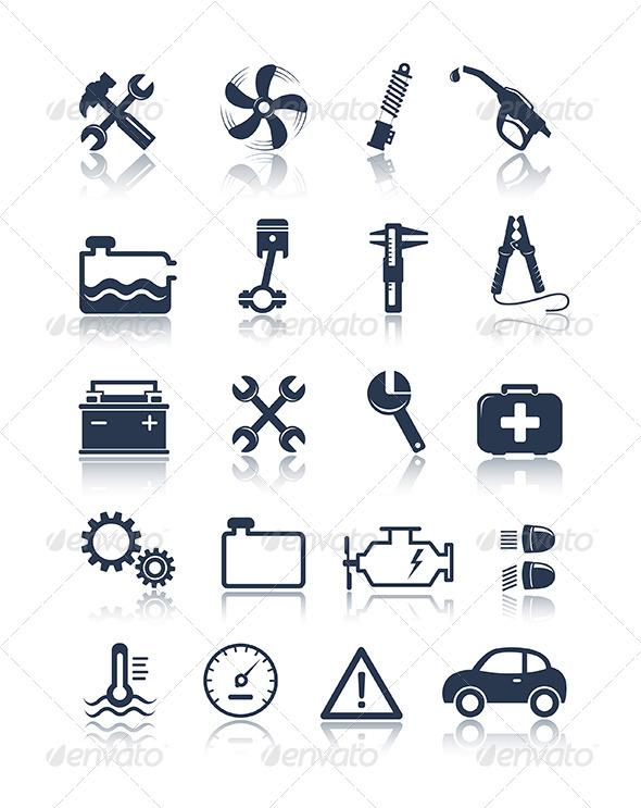 Car Auto Repair Service Symbol Icon