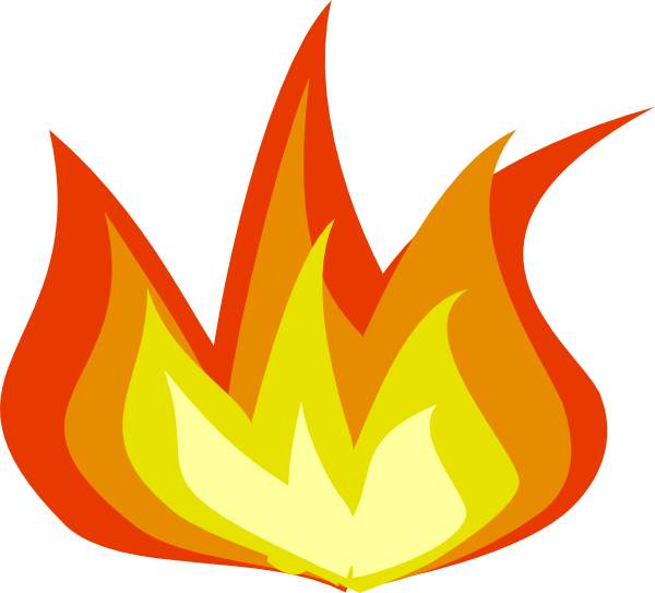 Cartoon Flames Clip Art