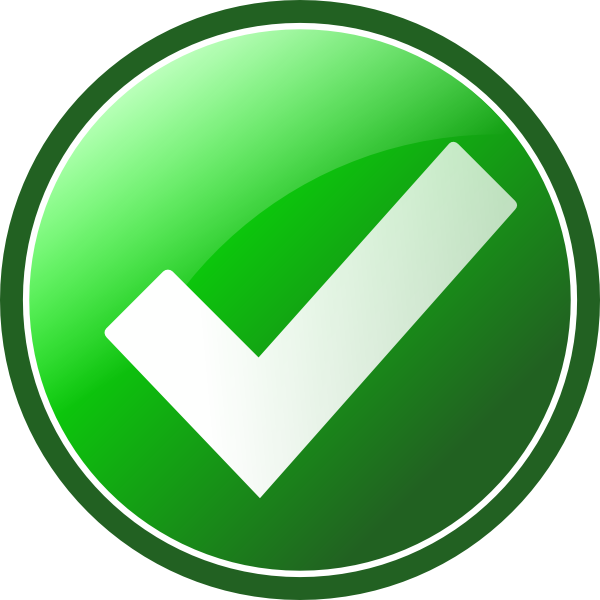 14 Green Check Box Icon Images