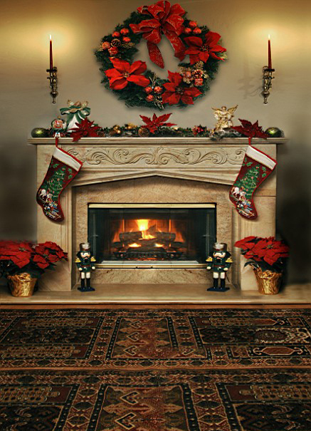18 Fireplace Photography Backdrop Images - Christmas Fireplace ...