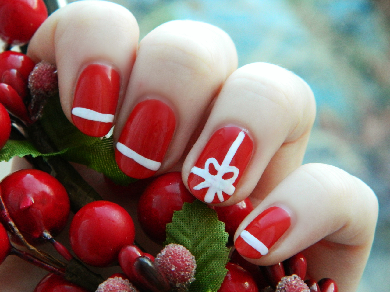 15 Christmas Nail Designs Images , Christmas Nail Art, Easy