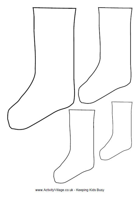 14 Sock Template Printable Images