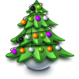 5 Vintage Christmas Tree Icons Images