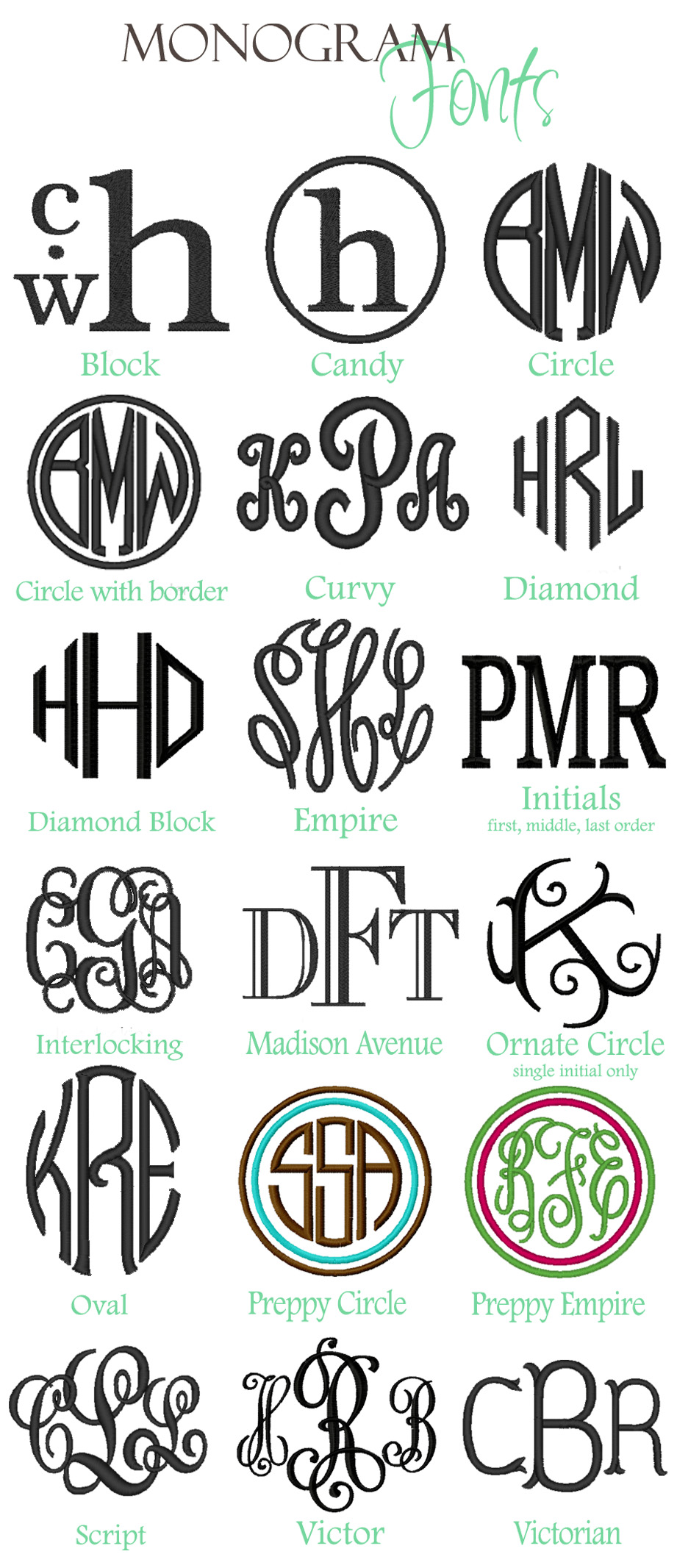 Circle Monogram Font Free Download