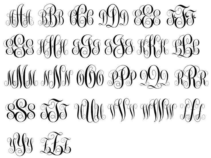 Circle Monogram Fonts Initials