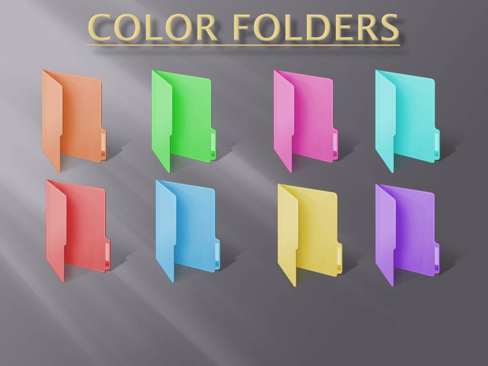 14 Colored Folder Icons Windows 7 Images