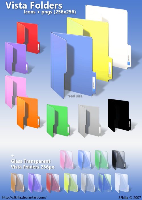 16 DeviantART Windows Folder Icons Color Images