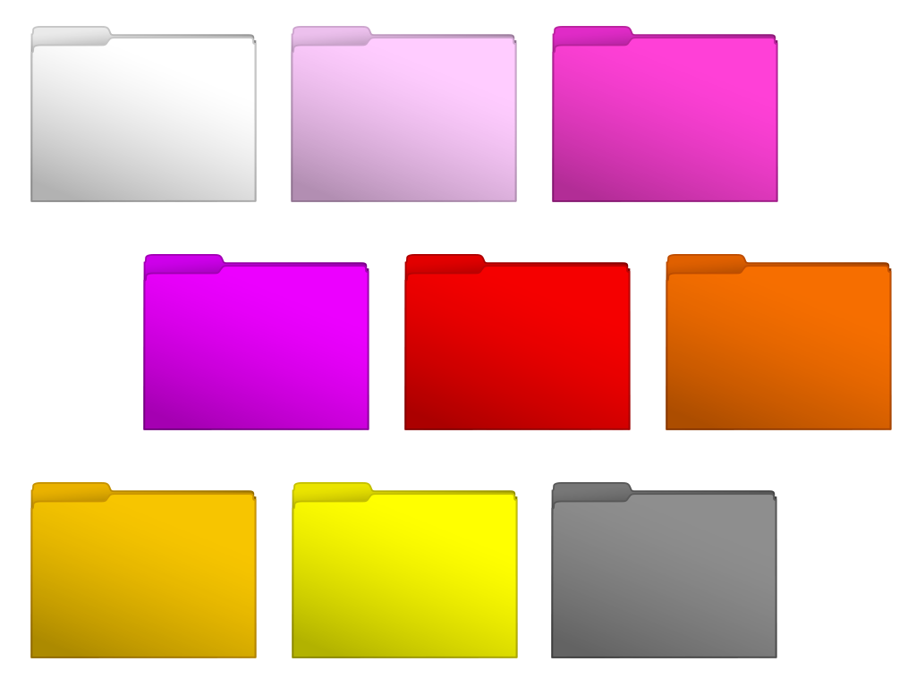 Computer Folder Icons Colored