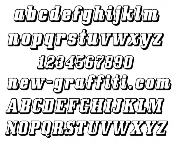 15 3D Graffiti Number Fonts Images - Letter and Number ...