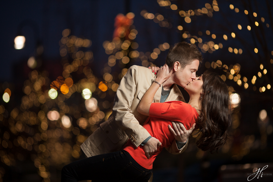 Couples Christmas Photography Lights