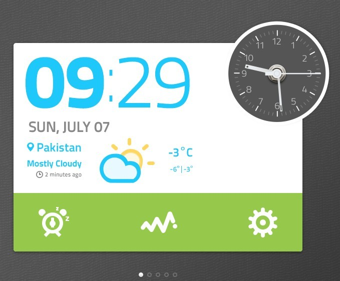 Date and Clock Widget
