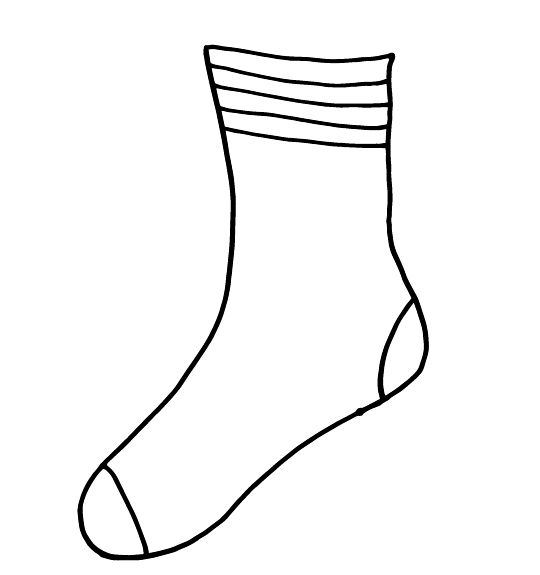 picture of socks coloring pages - photo#28