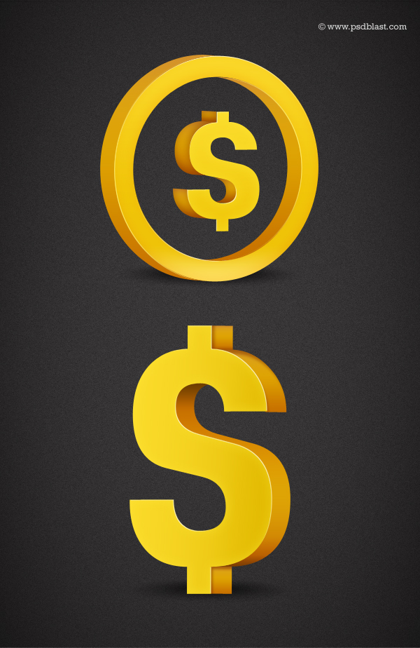 13 Dollar Sign Symbol PSD Images