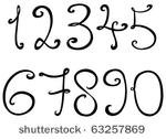 Fancy Writing Fonts for Numbers