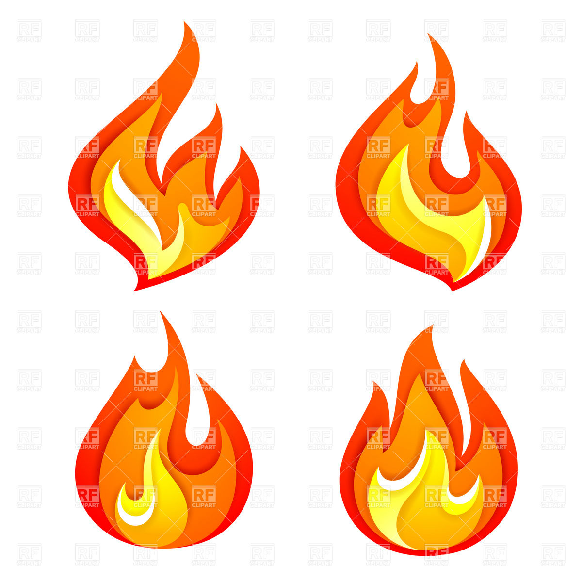 12 Flame Clip Art Graphics Images