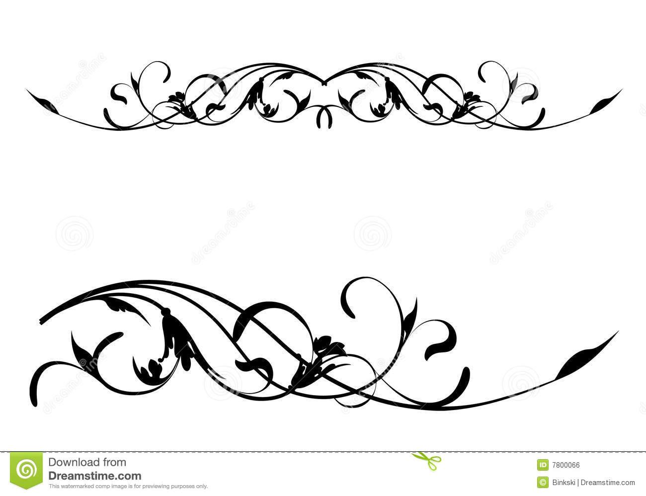 Floral Scroll Clip Art Free