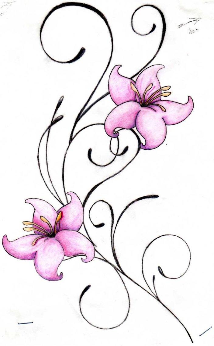 18 Flower Swirl Design Images