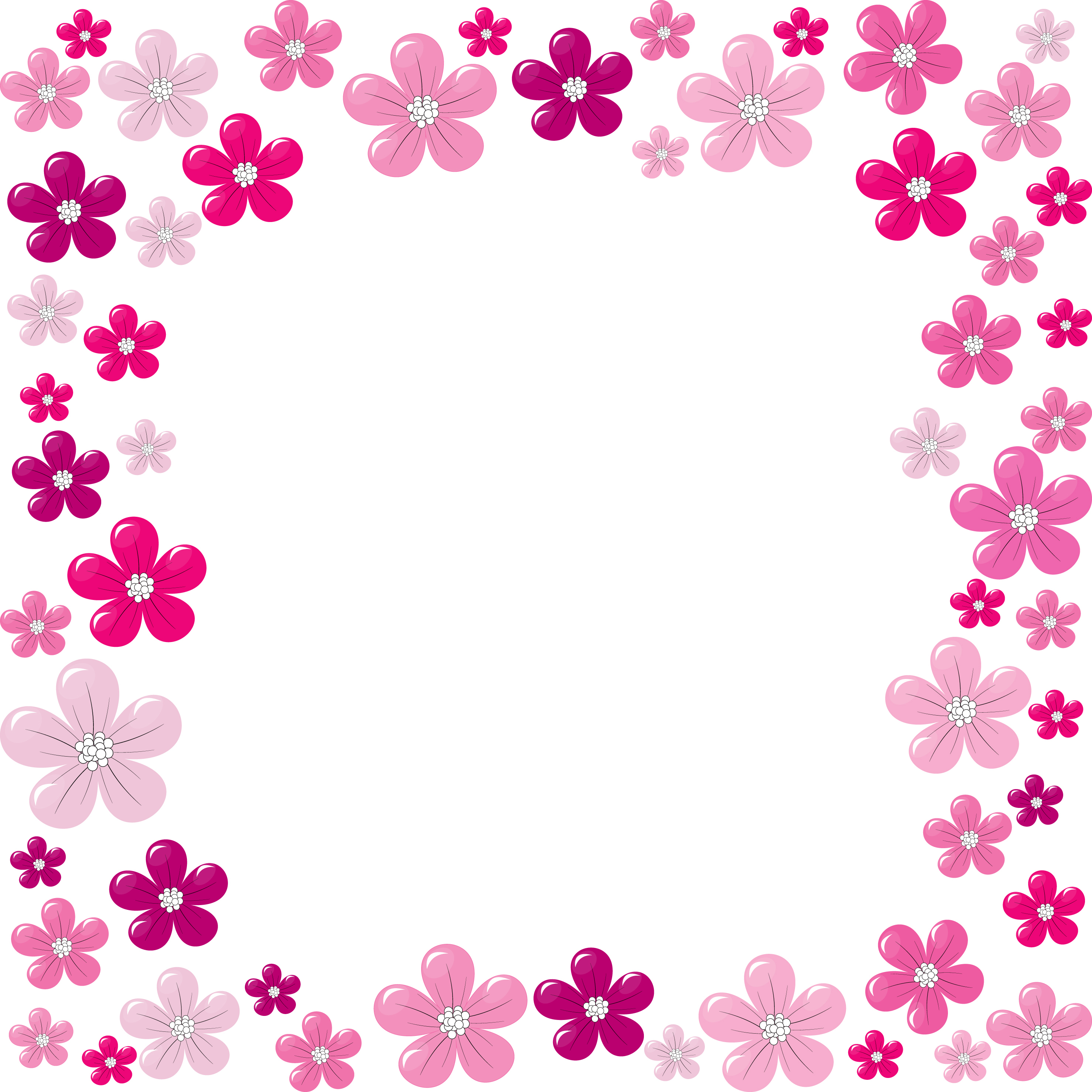 20 floral border vector images