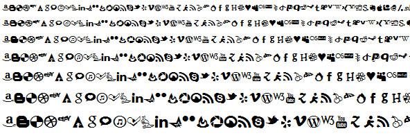 Font Face Icon Set