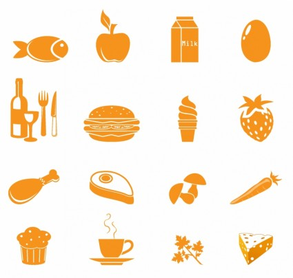 17 Food Icons Vector Images