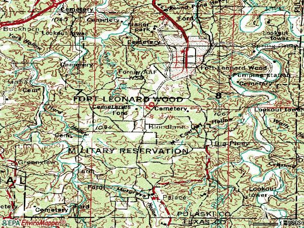 Fort Leonard Wood Missouri Map