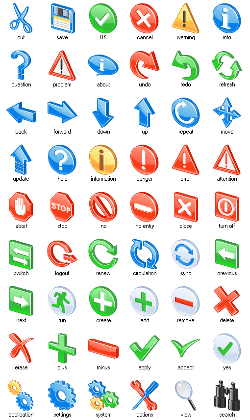 Various 3d icons mix vector graphics 01 free download.