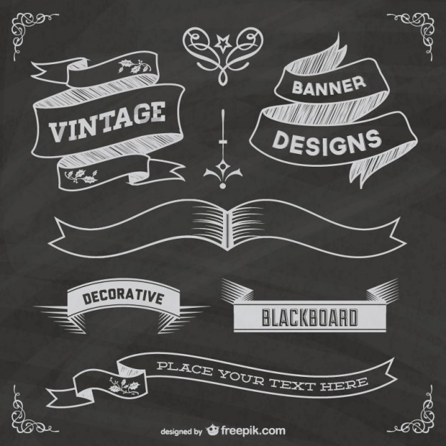 12 Chalkboard Elements Free Vector Images