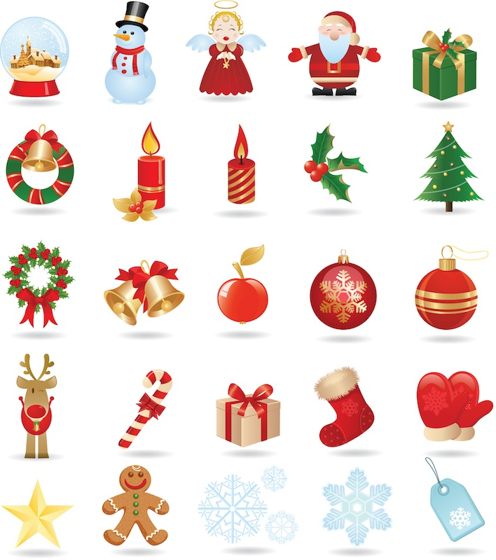 12 Christmas Clip Art Vector Images
