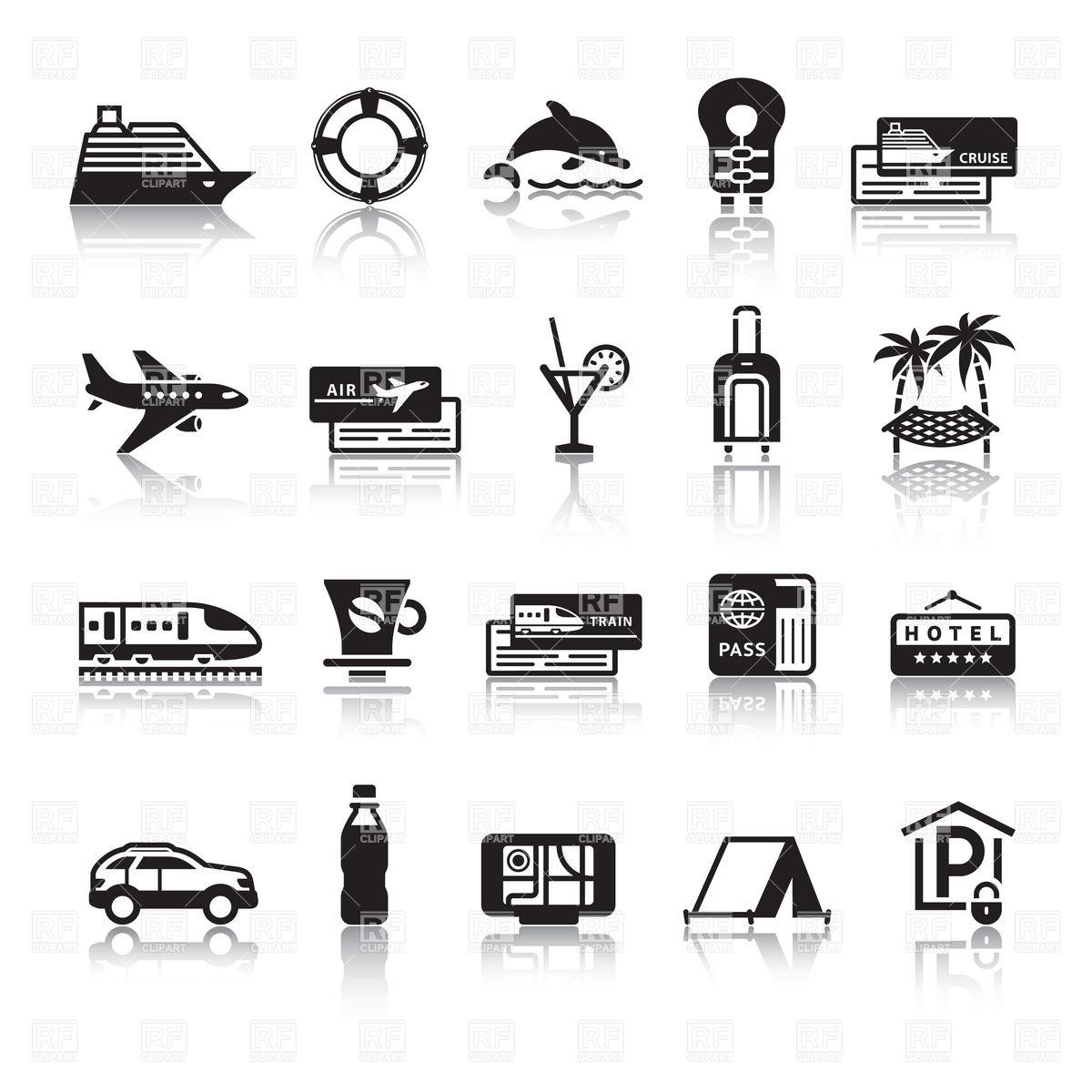 Free Clip Art Travel Icons