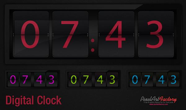 17 Clock PSD Time TEXTURES-Free Images