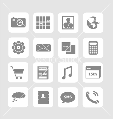 6 Mobile Icon Sets Vector Ai Images