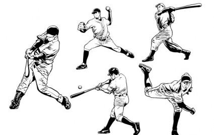 Free Vector Art Baseball Player