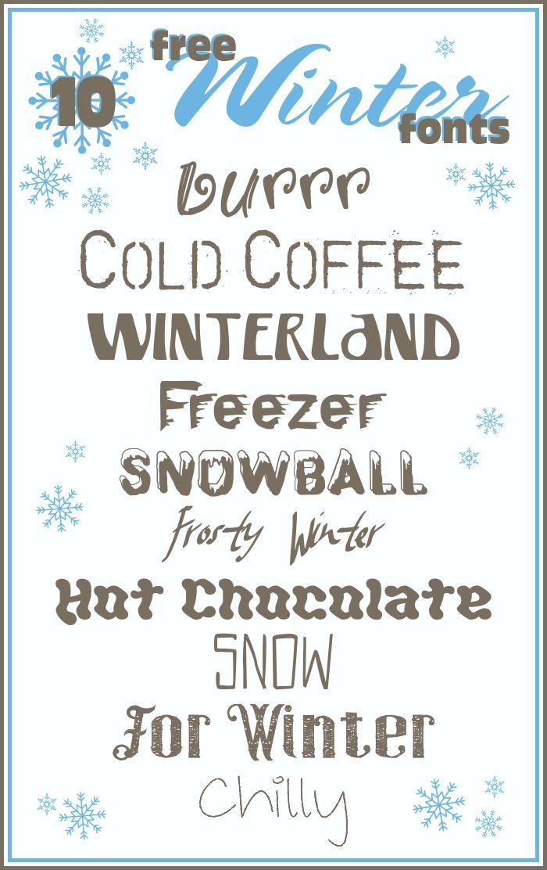 15 winter letters font images winter fonts winter. Black Bedroom Furniture Sets. Home Design Ideas