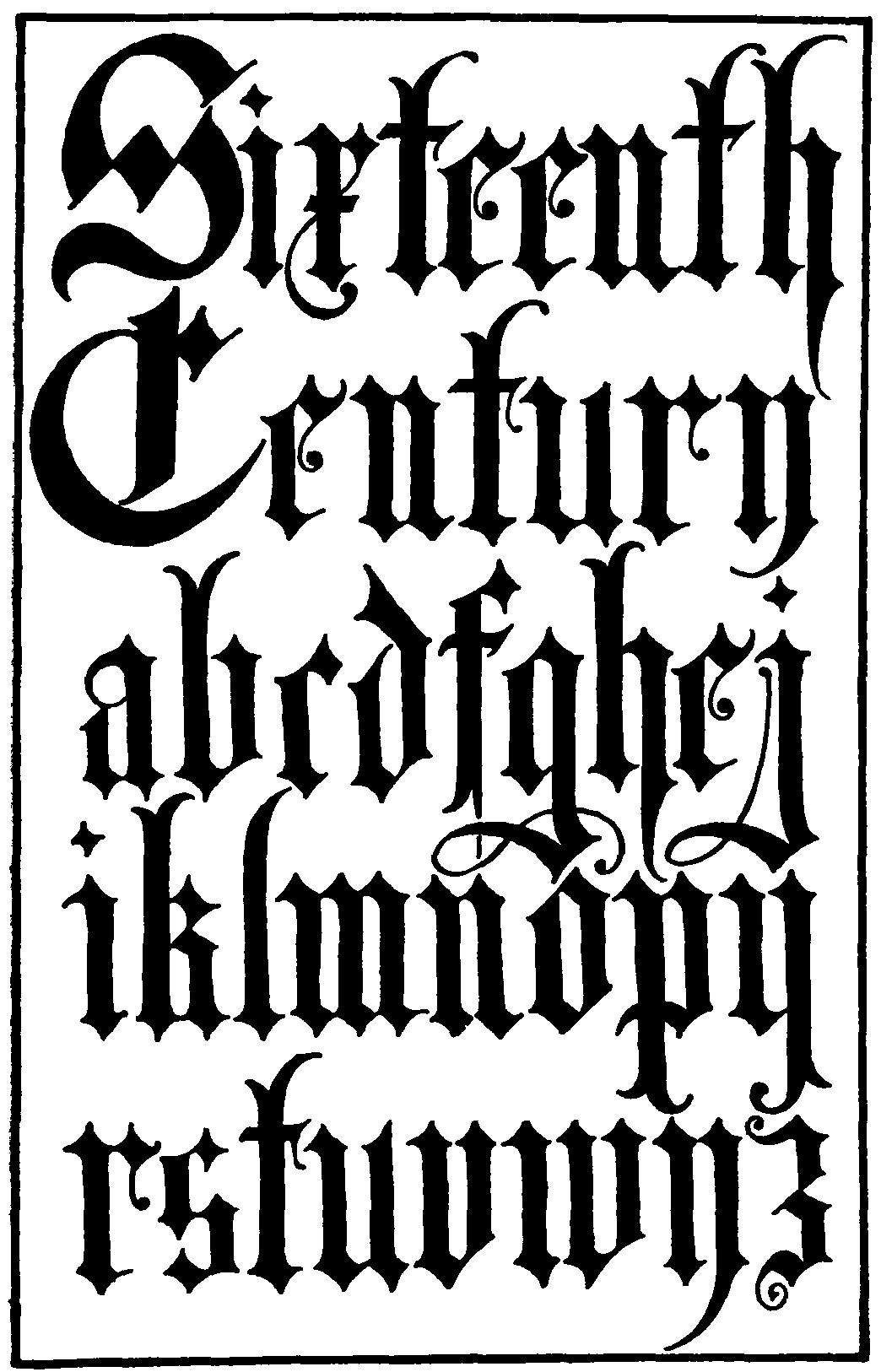 German Black Letter Font