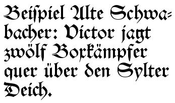 German Gothic Script Font
