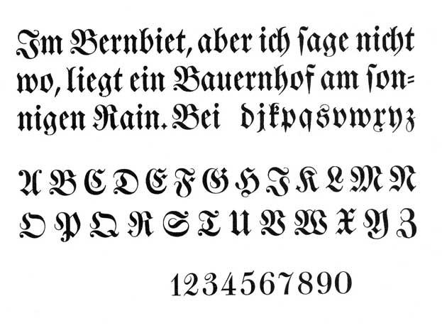German Script Alphabet Fonts