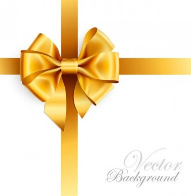 Gold Ribbon Bow Vector
