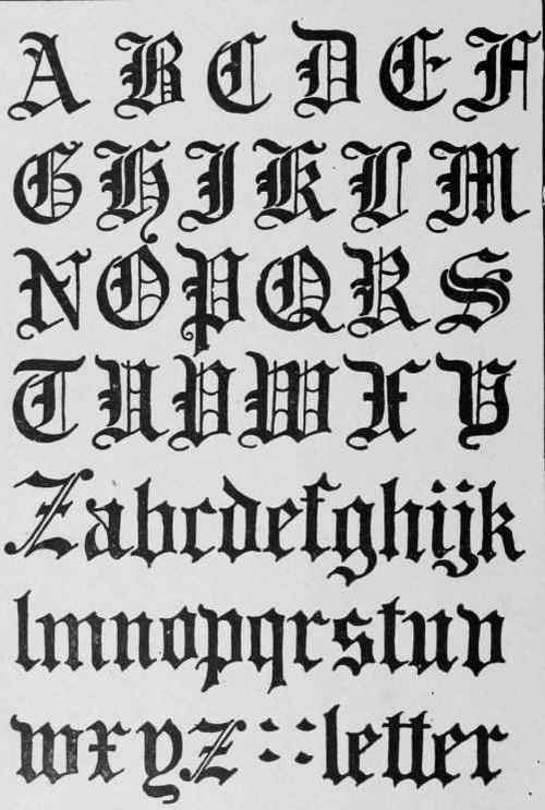 Gothic Alphabet Letters