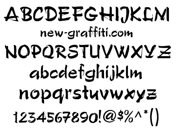 13 Graffiti Fonts Free Download Images