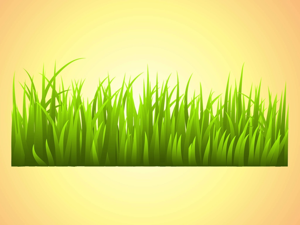 16 Grass Vector Font Images