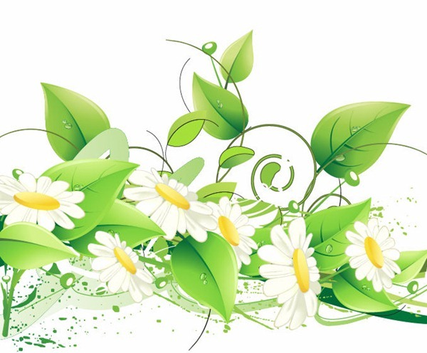 12 Green Floral Vector Free Images